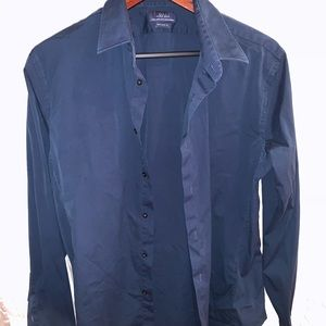 Zara Slim Fit XXL Blue Shirt